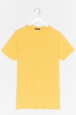 Face the Facts Oversized Tee - Yellow
