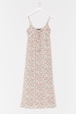 Rose Above It All Floral Maxi Dress - White