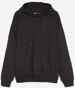 The Wait is Over-sized Plus Hoodie - Black