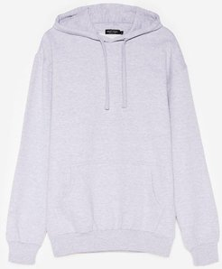 Plus Size Pocket Front Oversized Hoodie - Grey