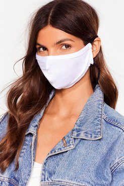All Mouth Fashion Face Mask - White