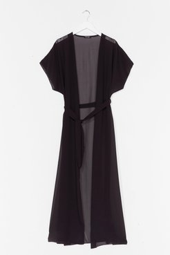 A Little Over the Top Plus Maxi Cover-Up Jacket - Black