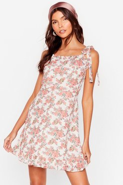 Bud Times Floral Mini Dress - White