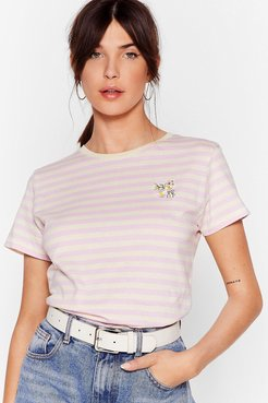 Grow Them Who's Boss Embroidered Ringer Tee - Lilac