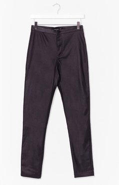 Nail the Leather Look Skinny Pants - Black