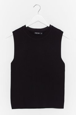 Knit Just Got Good Knitted Tank Top - Black