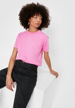 Face the Facts Relaxed Tee - Pink