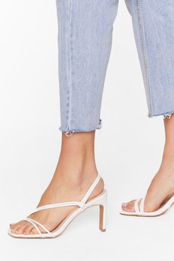 We're Strappy Together Faux Leather Heels - White