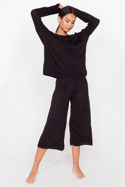 You've Met Your Match Knitted Sweater and Pants - Black