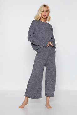 You've Met Your Match Knitted Sweater and Pants - Grey