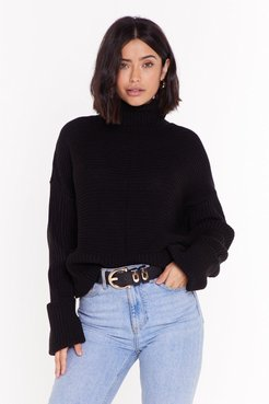 That's How We Roll Cable Knit Sweater - Black