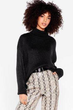 Show 'Em How Knits Done Turtleneck Sweater - Black