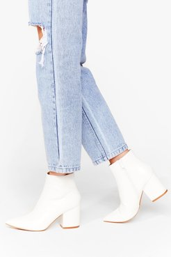 White Here Ankle Boots