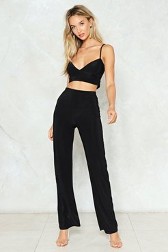 On the Loose Top and Pants Set - Black