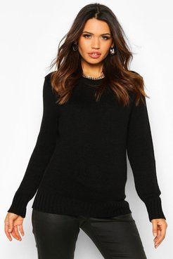 Maternity Crew Neck Sweater - Black - S