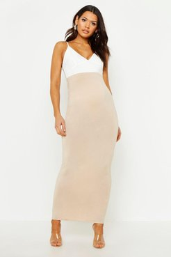 Maternity Over The Bump Maxi Skirt - Beige - 4