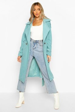 Belted Trench - Green - S