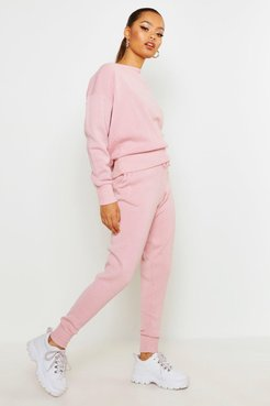 Boutique Heavy Knitted Loungewear Set - Pink - S/M