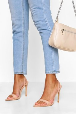Pointed Toe Slingback Two Parts - Beige - 5