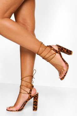 Wrap Up Strappy Block Heels - Multi - 5