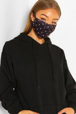 Mini Star Fashion Face Mask - Black - One Size