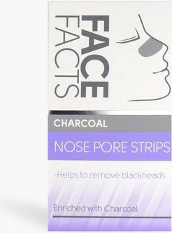 Face Facts Nose Pore Strips - Charcoal - White - One Size