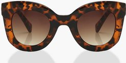 Tort Chunky Oversized Sunglasses - Brown - One Size