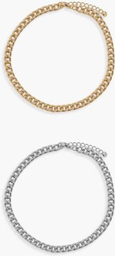 Chain Anklet 2 Pack - Multi - One Size