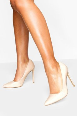 High Heel Pointed Pumps - Beige - 5