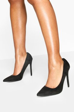 High Heel Pointed Pumps - Black - 5