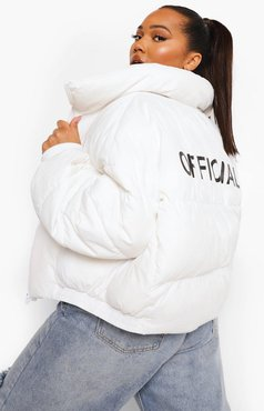 Plus Official Puffer Coat - White - 18