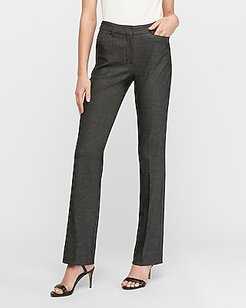 High Waisted Columnist Barely Boot Pant Black And White Women's 18 Short
