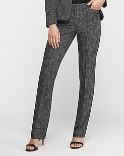Mid Rise Speckled Tweed Barely Boot Columnist Pant