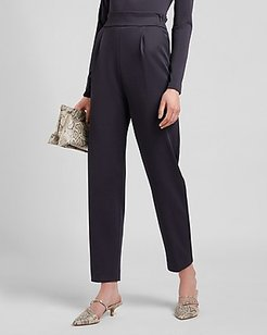 High Waisted Supersoft Double Knit Pull-On Ankle Pant Blue Women's M