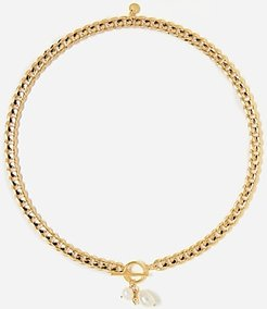 Tess + Tricia Billie Pearl Necklace Women's Gold