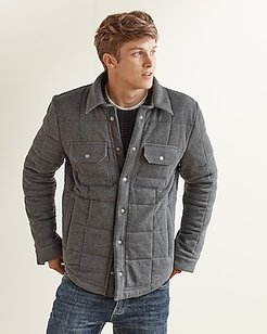 Upwest Quilted Shirt Jacket Gray Men's S