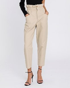 Endless Rose Elastic High Waisted Cargo Pant Brown Women's S