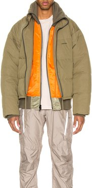Padded Reversible Jacket in Green