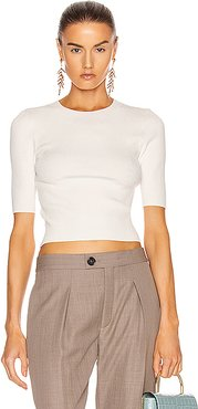 Shadow Crop Top in White