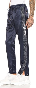 Jungle Satin Tearaway Pant in Blue