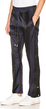 Paneled Tearaway Pants in Black,Blue,Stripes