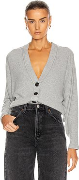 for FWRD Sweater Knit Dropped Cardigan in Gray