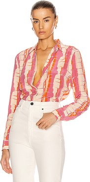 Essential Top in Abstract,Pink,Purple