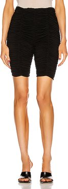 Lady Cinched Biker Shorts in Black