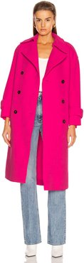 Oversized Trench Coat in Pink