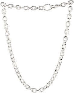 Roxy Necklace in Metallic Silver