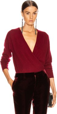 Cross Front Sweater in Red