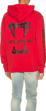 Creatures Of The Night Hoodie in Animal Print,Red