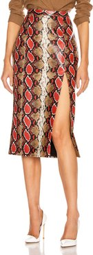 Kendall Skirt in Animal Print,Neutral,Red