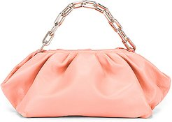 Pleated Clutch Bag in Pink